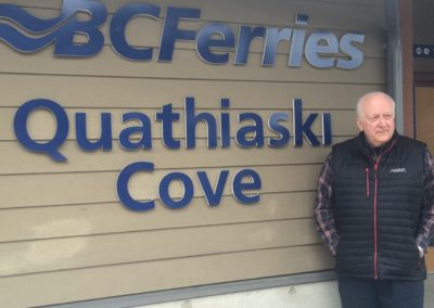Ed at Quathiaski Cove
