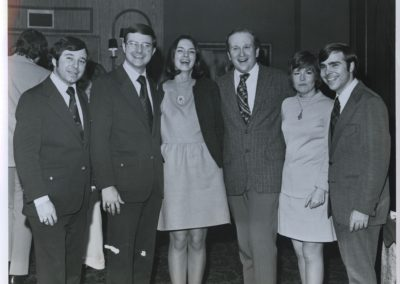 Ed with Marriott Sales Team, 1973
