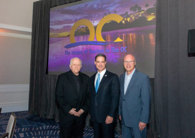Ed with Supervisor of OC Todd Spitzer and Jay Burress CEO Anaheim DOM