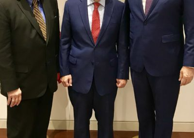 Ed with Terry Branstad, US Ambassador to China and Steve Churchill, Chief of Staff US Embassy China